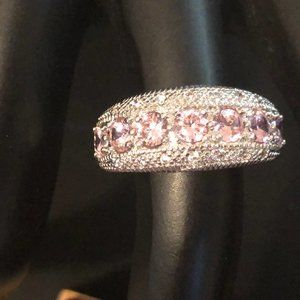 Pink Silver 925 Ring
